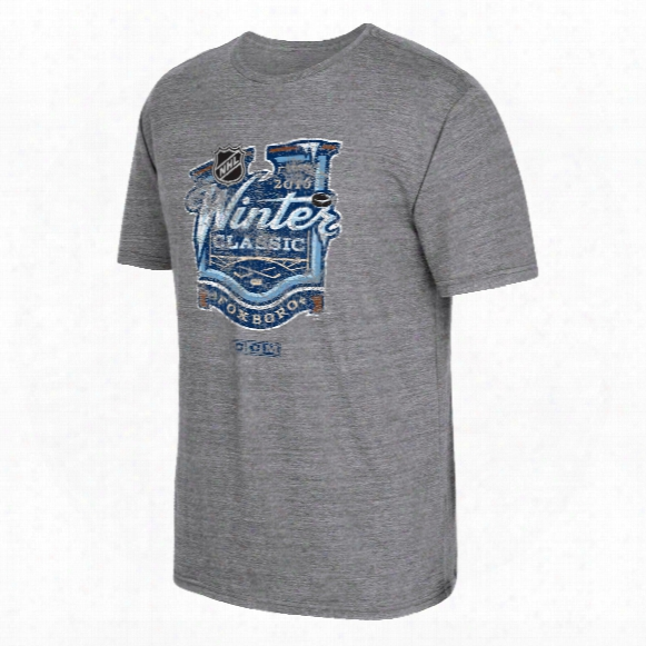 2016 Nhl Winter Classic Event Logo Tri-blend T-shirt (dark Gray Heathered)