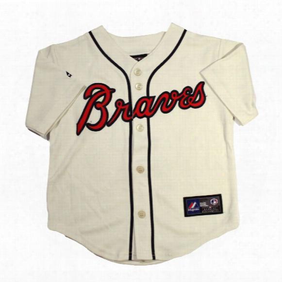 Atlanta Braves Majestic Child Alternate Replica Baseball Jersey (ivory)