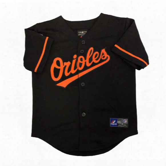 Baltimore Orioles Majestic Toddler Alternate Replica Baseball Jersey (black)
