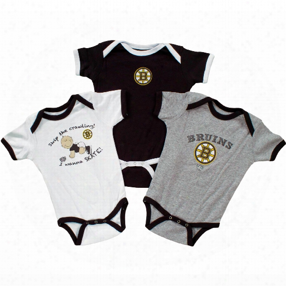 Boston Bruins Baby 3-pc Trinket Creeper Set