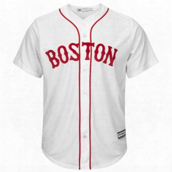 Boston Red Sox 2017 Cool Base Replica Alternate White Mlb Baseball Jersey