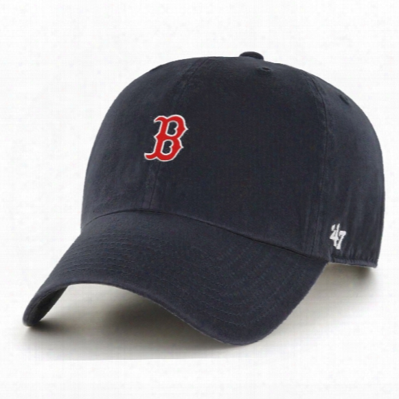 Boston Red Sox Base Runner Micro Logo Clean Up Cap