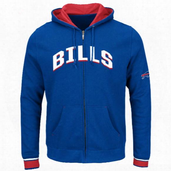 Buffalo Bills Anchor Point Full Zip Nfl Hoodie