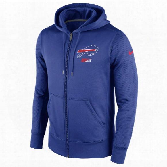 Buffalo Bills Nfl Sideline Ko Performance Full Zip Hoodie