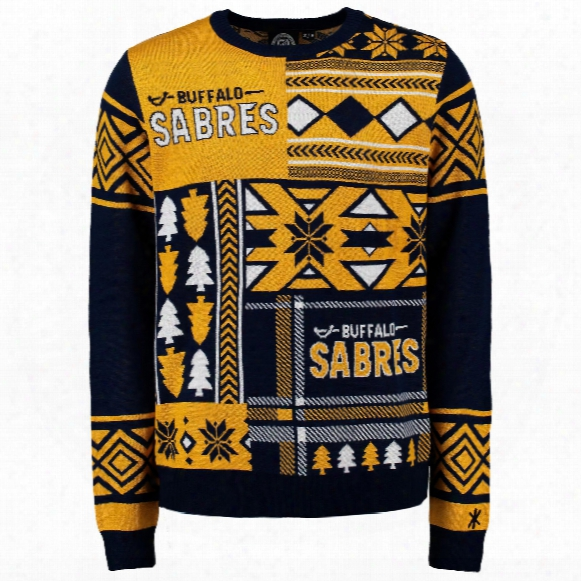 Buffalo Sabres Nhl 2015 Patches Ugly Crewneck Sweater