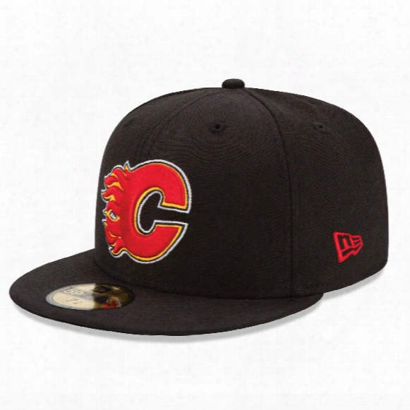 Calgary Flames 59fifty Basic Logo Fitted Cap (black)