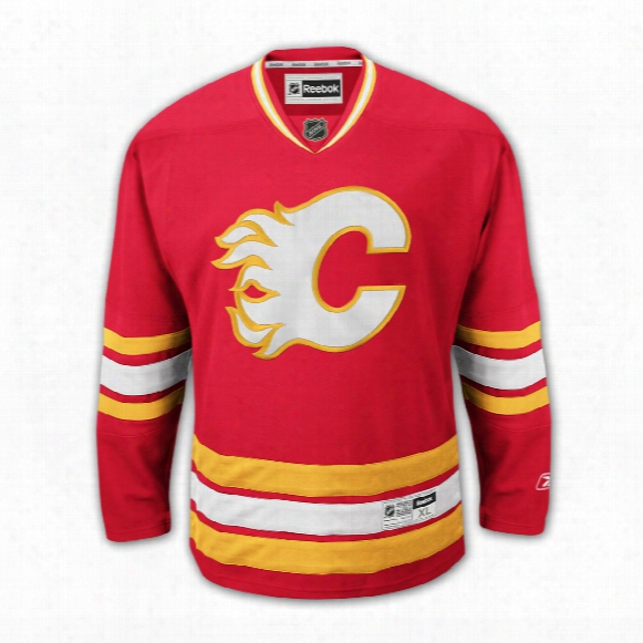 Calgary Flames Reebok Premier Youth Replica Alternate Nhl Hockey Jersey