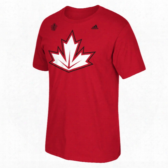 Canada Hockey 2016 World Cup Of Hockey Primary Logo Go To T-shirt (red)