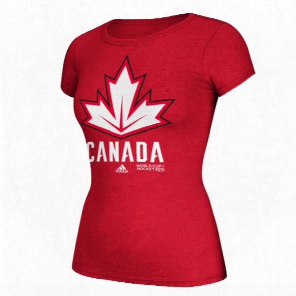 Canada Hockey 2016 World Cup Of Hockey Women's Cap Sleeve Primary Logo Go To