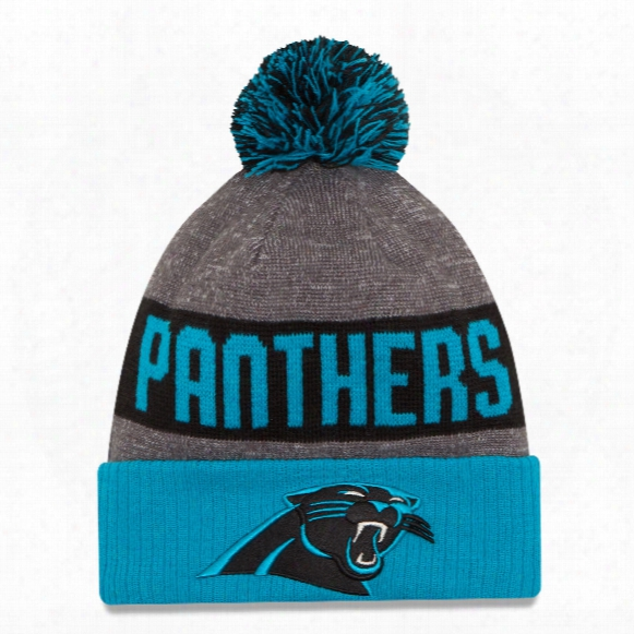 Carolina Panthers New Era 2016 Nfl Official Sideline Sport Knit Hat