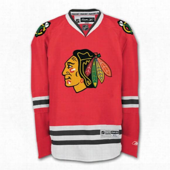Chicago Blackhawks Reebok Premier Youth Replica Home Nhl Hockey Jersey