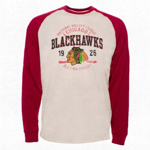 Cicago Blackhawks Twigs Raglan Long Sleeve Jersey T-shirt