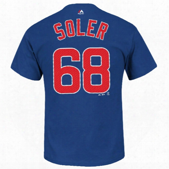 Chicago Cubs Jorge Soler Mlb Player Name & Number T-shirt (deep Royal)