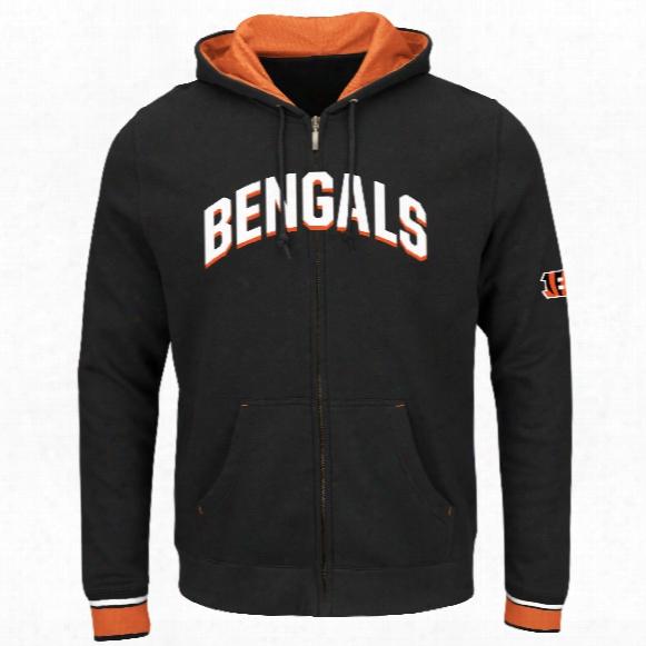 Cincinnati Bengals Anchor Point Full Zip Nfl Hoodie