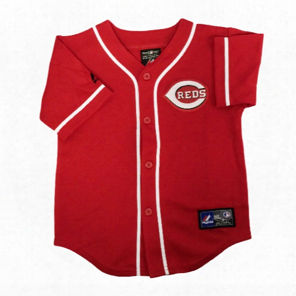 Cincinnati Reds Majestic Toddler Alternate Replica Baseball Jersey (scarlet)