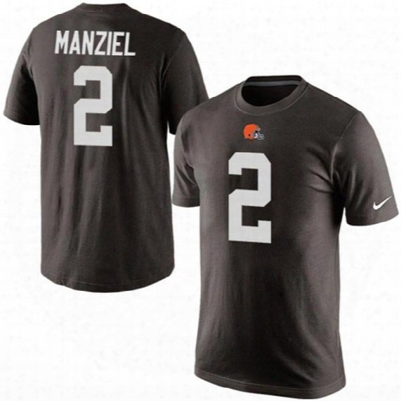 Cleveland Browns Johnny Manziel Nfl Player Pride Name And Number T-shirt