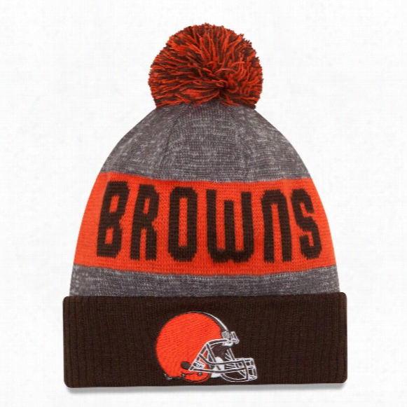 Cleveland Browns New Era 2016 Nfl Official Sideline Sport Knit Hat