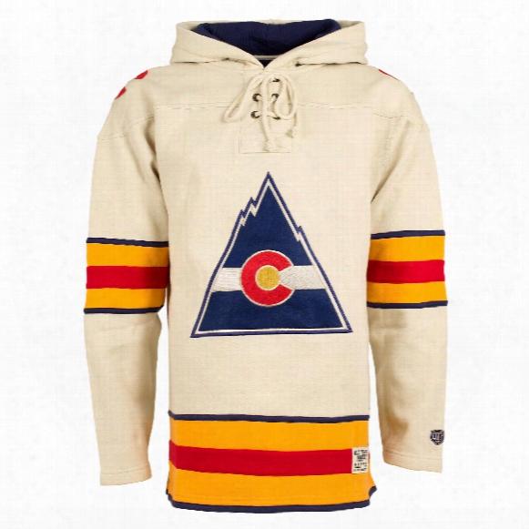 Colorado Rockies Vintage Heavyweight Jersey Lacer Hoodie
