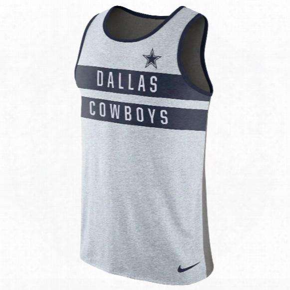Dallas Cowboys Nfl Nike Stripe Tri-blend Tank Top
