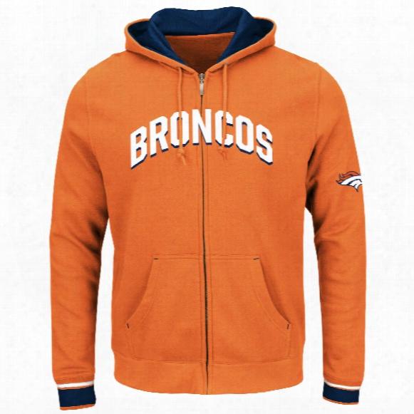 Denver Broncos Anchor Point Full Zip Nfl Hoodie