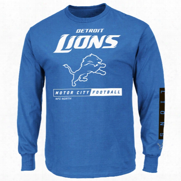 Detroit Lions 2016 Primary Receiver Long Sleeve Nfl T-shirt