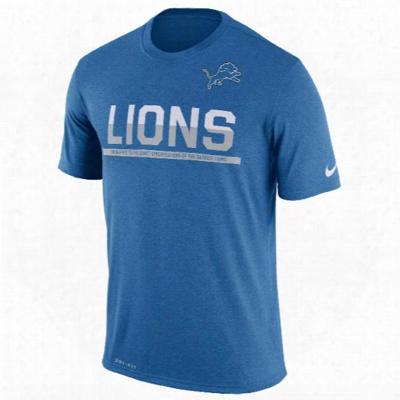 Detroit Lions Nfl Nike Team Practice Light Speed Dri-fit T-shirt