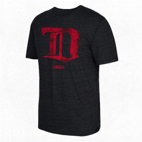Detroit Red Wings Ccm Retro Logo Tri-blend T-shirt
