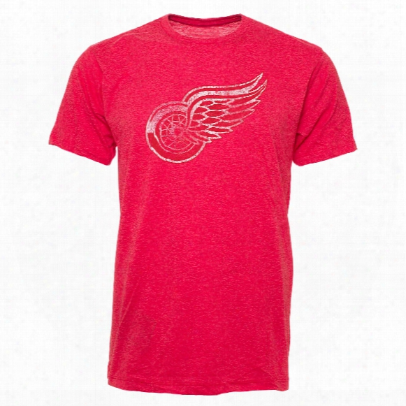 Detroit Red Wings Old Time Lightweight Heathered Bi-blend T-shirt