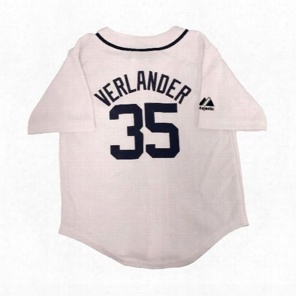 Detroit Tigers Justin Verlander Majestic Child Home Replica Baseball Jersey