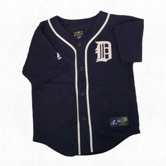 Detroit Tigers Majestic Child Alternate Replica Baseball Jersey (navy)