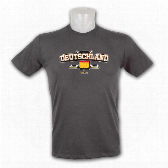 Germany Patriotic Fine Jersey Vintage T-shirt (stone)