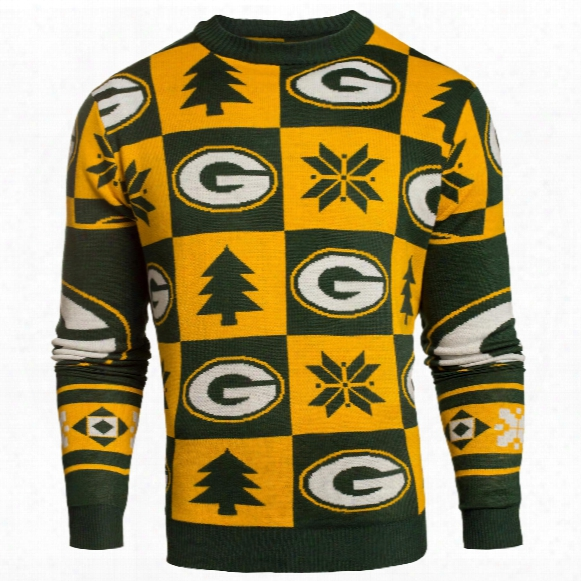 Green Bay Packers Nfl Patches Ugly Crewneck Sweater
