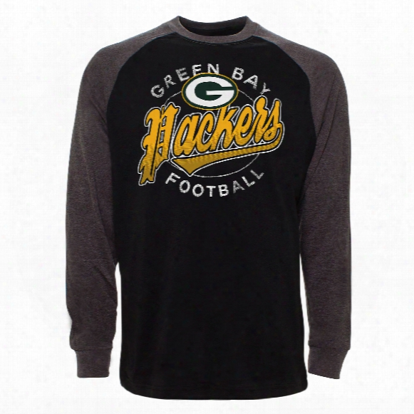 Green Bay Packers Rounder Raglan Long Sleeve Jersey T-shirt