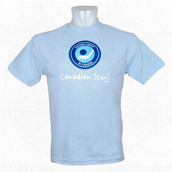 Hockey Night In Canada *canadian Icon!* T-shirt (light Blue)