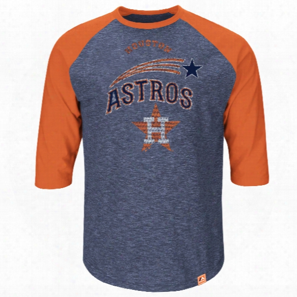 Houston Astros Cooperstown Don't Judge 3/4 Raglan T-shirt