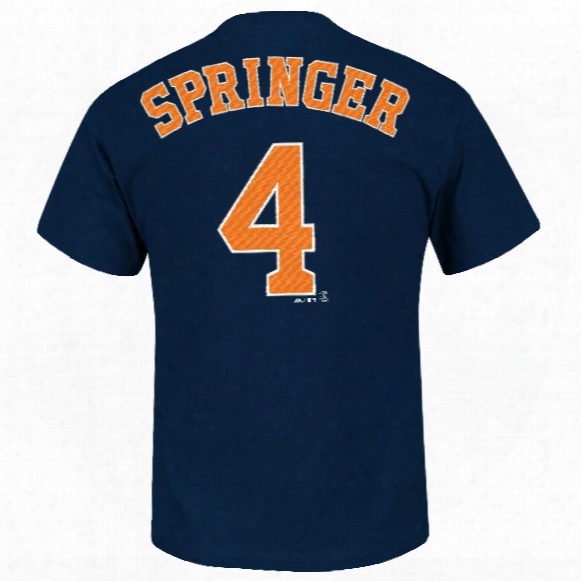Houston Astros George Springer Mlb Player Name & Number T-shirt (navy)