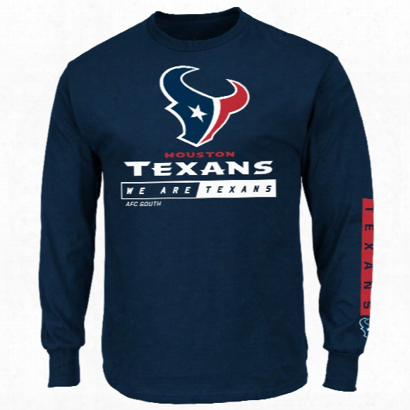 Houston Texans 2016 Primary Receiver Long Sleeve Nfl T-shirt