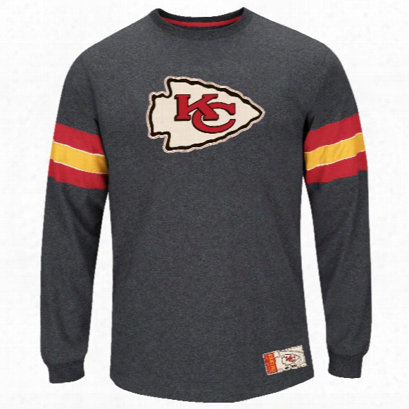 Kansas City Chiefs Team Spotlight Iii Long Sleeve Nfl T-shirt With Felt Applique