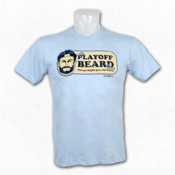 Kractice Playoff Beard Fine Jersey Vintage T-shirt (light Blue)