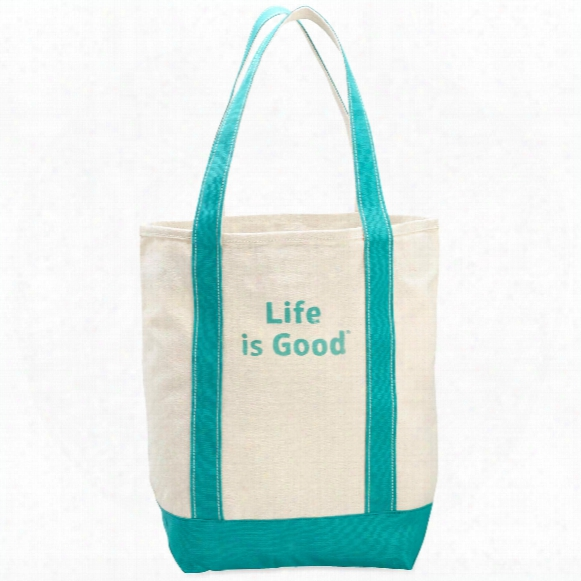 Life Is Good Carry On Canvas Tote (painted Teal)