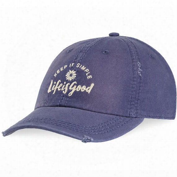 Life Is Good Daisy Sunwashed Chill Cap