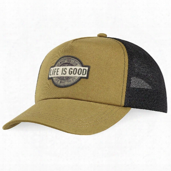 Life Is Good Dwyl Patch Mesh Back Chill Cap