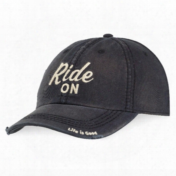 Life Is Good Enjoy The Ride Sunwashed Chill Cap