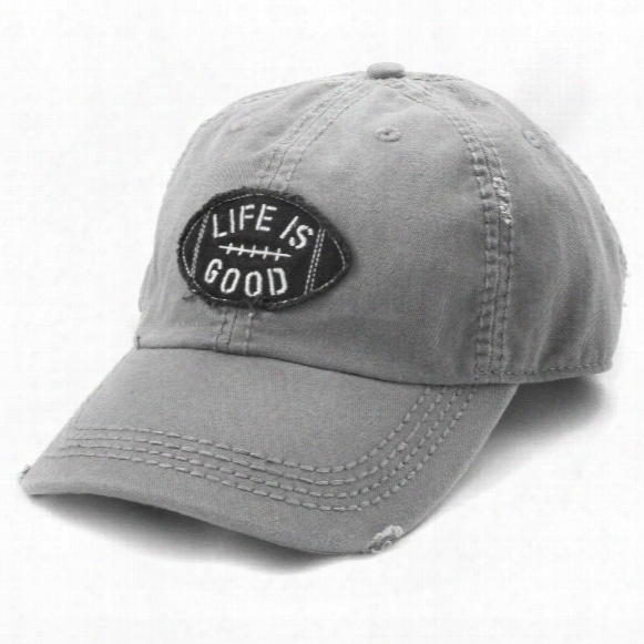 Life Is Good Football Sunwashed Chill Cap