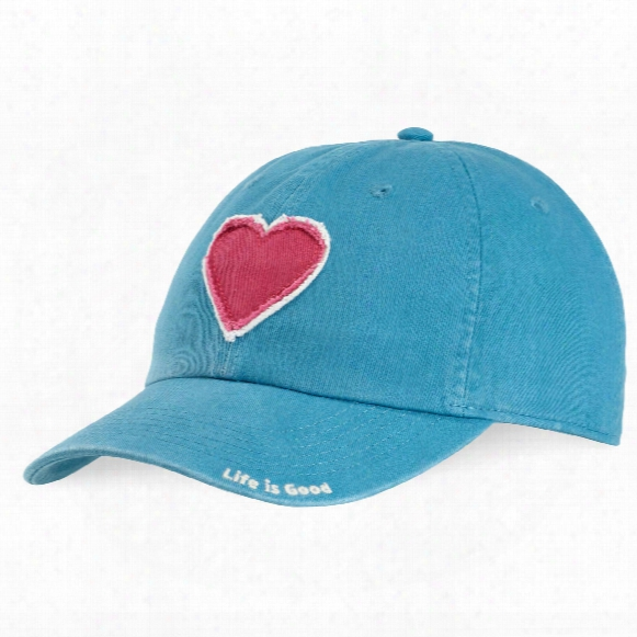 Life Is Good Heart Patch Torn Chill Cap