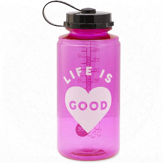 Life Is Good Heart Water Bottle