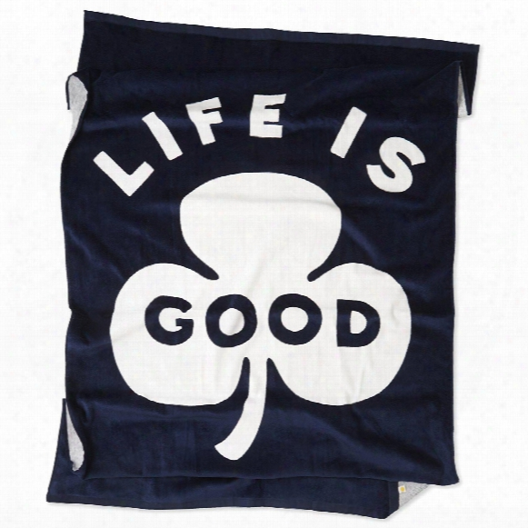 Life Is Good Shamrock Beach Towel