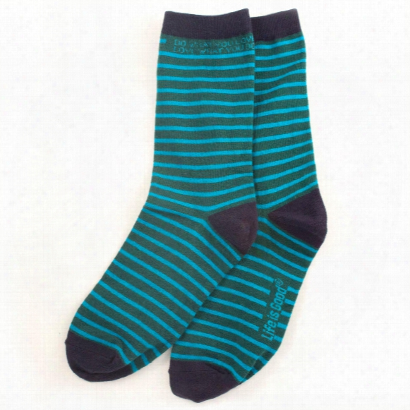 Life Is Good Women's Crew Socks (beachy Teal)