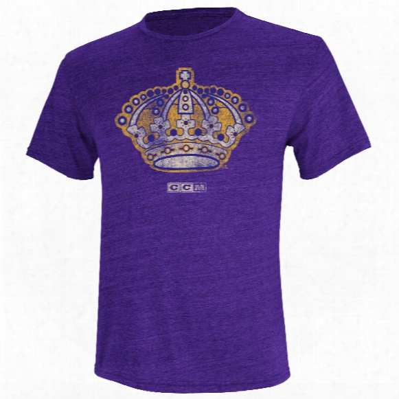 Los Angeles Kings Ccm Retro Llogo Tri-blend T-shirt