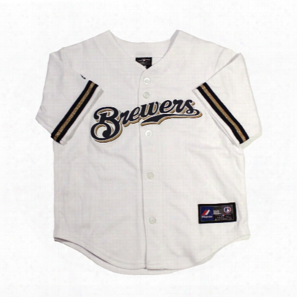 Milwaukee Brewers Majestic Child Home Replica Baseball Jersey